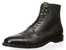 Antonio Maurizi Lace-Up Boots 42 EU 9 US Burnished Perforated Trim NEW Storm