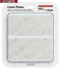 #23 White Character Pattern Cover Plate New Nintendo 3DS Official Item Japan