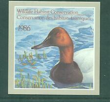 Canada 1986 Canadian Wildlife Habitat Conservation stamp and Booklet