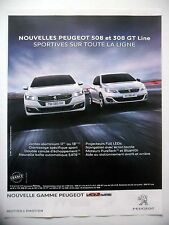 PUBLICITE-ADVERTISING :  PEUGEOT 508 308 GT Line  2015 Voitures