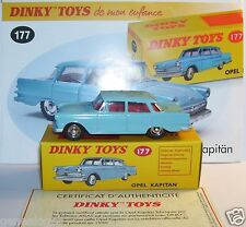 DINKY TOYS ATLAS OPEL KAPITAN BLEU CLAIR 1/43 REF 177 IN BOX