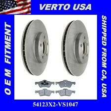 Set Of 2  Brake Rotors & Pads - Front  Verto USA  54123X2-VS1047 Fit Ford , ....