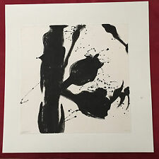 "Original Signed Black Ink Paintings on Fiber Paper 17""x17"" Mounted on Boards"