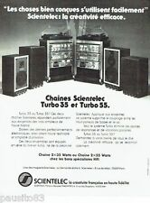 PUBLICITE ADVERTISING 126  1979   Scientelec  chaine hi-fi  Turbo 35 & 55
