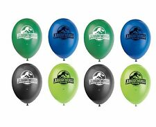 "8ct Unique Jurassic World Dinosaurs Birthday 12"" Latex Balloons Party Supplies"