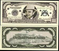 Al Capone $100,000 Dollar Bill Collectible Funny Money Novelty Note