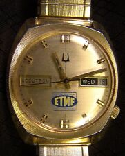 Nice Men's Bulova Accutron N7 4 O'clock Stem Day Date ETMF Watch Needs Work