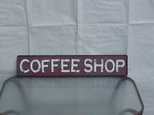 "XL COFFEE SHOP ""EMBOSSED""  Sign Metal Vintage Style"