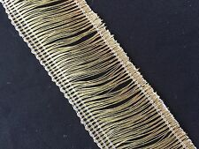 "1.3/8"" (35mm) Metallic Woven Ribbon Fringe/Tassel Trim - 1 metre"