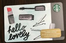 STARBUCKS GIFT CARD 2015 LIMITED EDITION CHRISTMAS HELLO LOVELY HOLIDAY 48