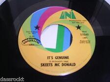 """7"""" - Skeets McDonald / Old Indians never Die & It´s Genuine - US # 4001"""