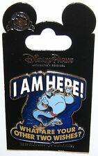 """Disney Genie """" I Am Here! What Are Your Other Two Wishes?"""" Aladdin 3D PIN ON PIN"""