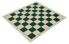 "22"" High Quality Vinyl Chess Board – Meets Tournament Standards - Green"