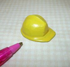 Miniature Cast Metal Yellow Hard Hat: DOLLHOUSE Miniatures 1/12 Scale