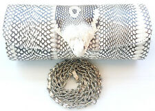 Genuine Cobra Real Snake Leather Handbag Clutch & Shoulder Bag Baguette Grade A