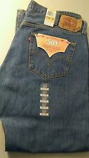 NWT Levis Button Fly 501 Mens Jeans Medium Color Blue Stone Wash Size W42  L32