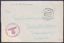 Feldpost Scheinwerferbatterie Flak FP 32776 auf Brief nach Weißkirchen 1942