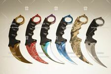6 PCS CSGO Counter Karambit GO Knife Skin CS Strike Real Knives