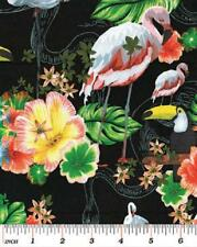 Fat Quarter Island Tropics Birds Of Paradise (B) Cotton Quilting Fabric 50x55cm