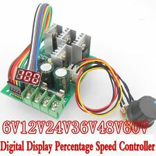LED 30A PWM Motor Speed Controller Digital Display Control Switch Module DC6-60V