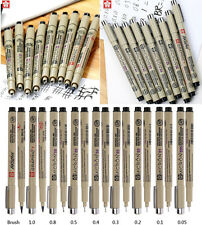 Profession Drawing Ink Pens 8Pcs & 1*Brush Micron Fine Liner Art Supplies Set
