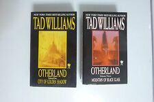 Otherland 1 City of Golden Shadow SIGNED & 3 Mountain Black Glass Tad Williams