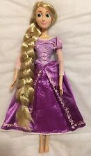 "Disney 17"" Singing Rapunzel Tangled Princess Doll Tinsel Glitter Extra Long Hair"