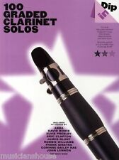 100 livellata Solos per Clarinetto Spartiti Musicali LIBRO POP Play ABBA BEATLES CANZONI ROCK