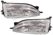 New Replacement Headlight Assembly PAIR / FOR 1995-96 TOYOTA CAMRY