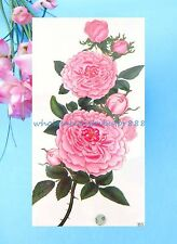 US Seller-fake tattos large peony flower temporary tattoo sticker