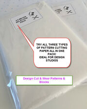 4.5 MTR PATTERN CUTTING PAPER SELECTION- 3 TYPES SPOT & CROSS & PLAIN -DESIGNERS
