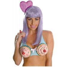 California Gurl Deluxe Costume Wig Katy Perry Adult Purple Candy Cupcake Girl