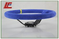 Blue Color OP 14inch 350mm Suede Leather Deep Corn Drifting Steering Wheel- New
