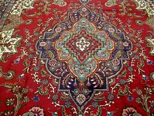 10X13 1940's EXQUISITE MASTERPIECE HAND KNOTTED ANTIQUE WOOL TABRIZ PERSIAN RUG