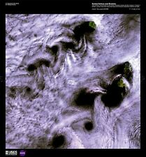 La scienza Mappa Satellitare Cloud Formation Russia grandi REPLICA poster stampa pam1513