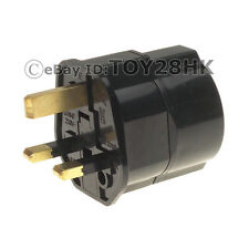Schuko/Germany/France/S.Korea to UK Adapter Power Plug BS1363 Fused Black