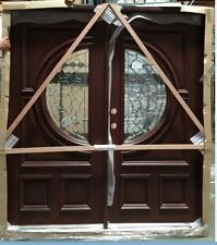 FREE SHIPPING!!!Solid Mahogany Wood Door, Prehung & Finished DMH7587-6