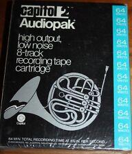 8 TRACK CARTRIDGE TAPE BLANK UNRECORDED 64 minutes Capitol 2 audiopak