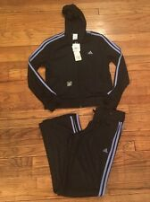 ADIDAS Black & Neon Blue Clima 365 Performance Track Suit, Sz MED New With Tags!