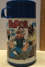 Popeye Aladdin Vintage 1979 Thermo Bottle Plastic Thermos King Features Hot Cold