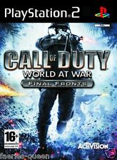 Call of duty world at war final fronts pour PS2 SONY PLAYSTATION 2 manuel incl.