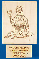 Plumbing Set of Rubber Stamps by Diamonds - Tool Man + Just a Little Leak Words