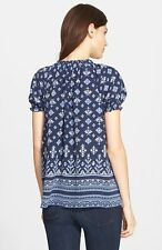 JOIE- Masha Silk Top - Navy Blue - from John Lewis Joie range