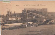 BELGIQUE BELGIUM HUY le pont la citadelle et la collégiale timbre belge 1912