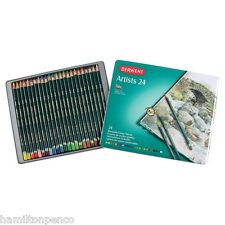 DERWENT ARTISTS TIN of 24 blendable colour pencils