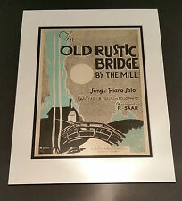 The Old Rustic Bridge Song Book double mounted artwork