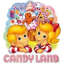 """Candy Land Iron On Transfer 5""""x 5"""" for LIGHT Colored Fabric"""