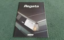 March 1985 FIAT REGATA SALOON inc DIESEL - ITALIAN 34 PAGE BROCHURE