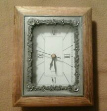 "Tabletop/Desktop Clock No Makers Mark 7"" H  X  5 1/2"" W  -  Works"