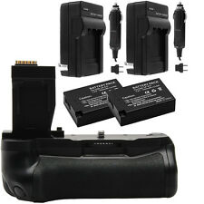 Vivitar 2-Pack Battery & Charger Kit for LP-E17 + T6i/T6s Battery Grip Bundle